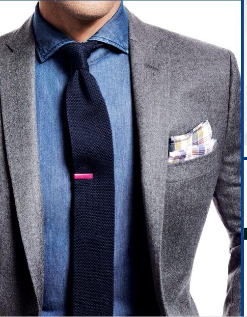 Grey Suit With Blue Shirt Men 39 S Fashion Pinterest