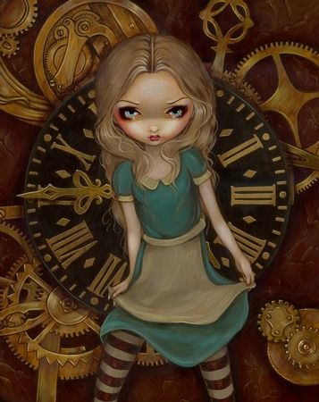 Steampunk Alice in Wonderland: Alice in Clockwork The Intriguing Gothic Fantasy Art of Jasmine Becket-Griffith