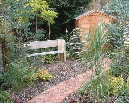 gardens2wish4 long narrow garden garden design landscaping planting london south - Garden Design Long Narrow