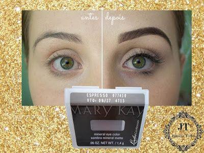 Além do Lápis Preenchedor de Sobrancelhas, a Mary Kay possui a Sombra Mineral Expresso, que serve também para o preenchimento de suas sobrancelhas! ♡ Thatiane F. Meliani Consultora Sênior de Beleza Mary Kay Whatsapp: (13) 98140-6871