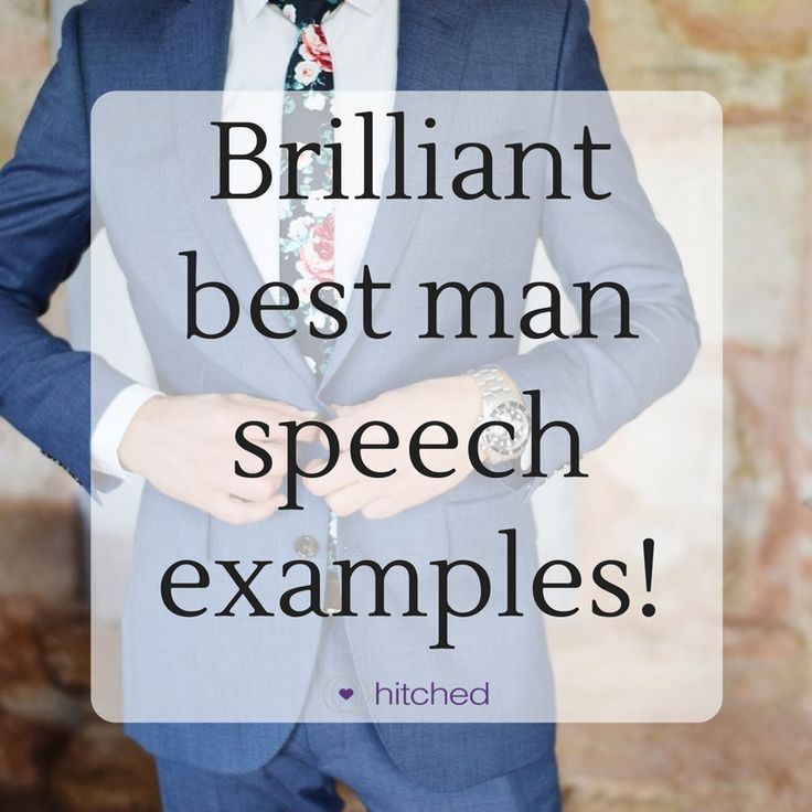 This free example wedding speech database is