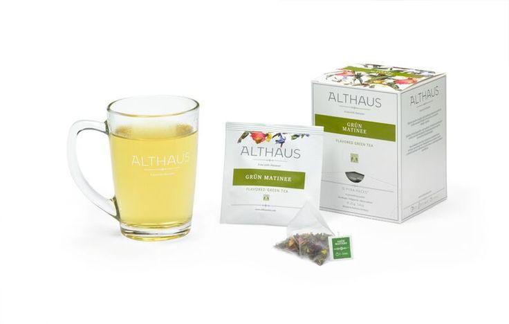 Grün Matinee - Pyra Pack i kubek  #Herbata #Althaus #Lux  #WeBrew  www.WeBrew.coffee