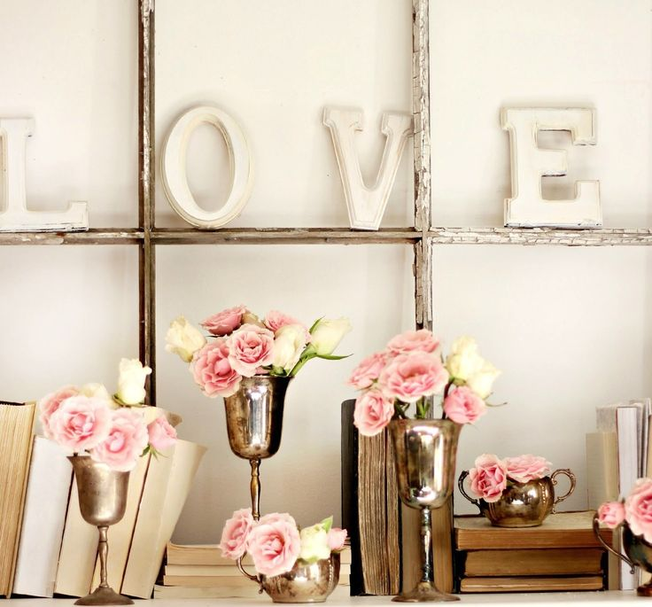 Get in the Valentine's Day Spirit With a L-O-V-E Mantel