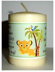 14 Lion King Baby Simba Baby Shower Favors Votive Candle Labels | eBay