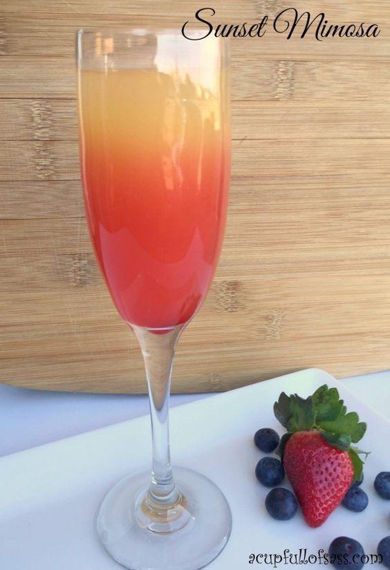 Sunset Mimosa brunch drink recipe