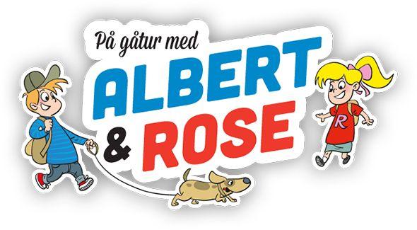 Gå en tur med Albert og Rose