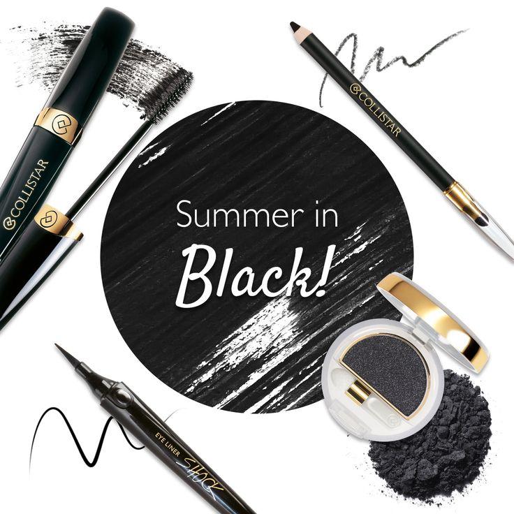 Chi dice che il colore nero non è adatto a un trucco estivo? Scopri i prodotti selezionati per donare a ogni tuo look femminilità ed eleganza... anche in vacanza!