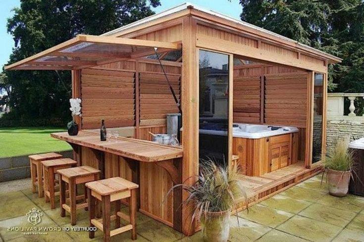 32 Beautiful Outdoor Hot Tub Privacy Ideas Hot Tub Patio