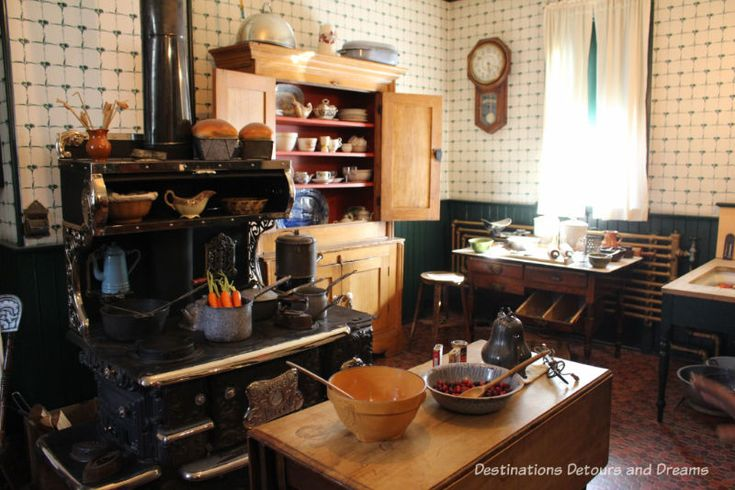 Kitchen in Dalnavert Museum, Winnipeg, Manitoba