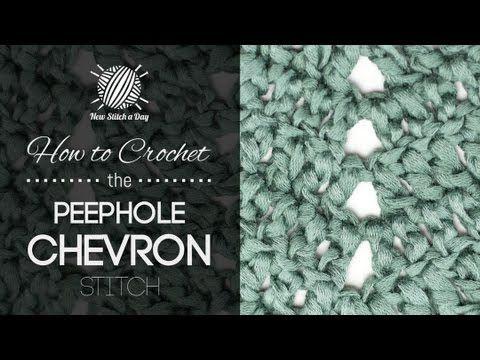 How to Crochet the Peephole Chevron Stitch - NewStitchaDay.com