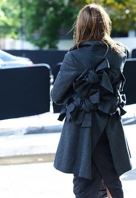 Comme des Garçons bow coat