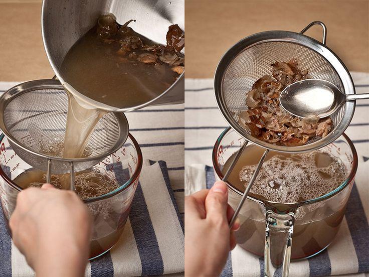 straining soap nut liquid