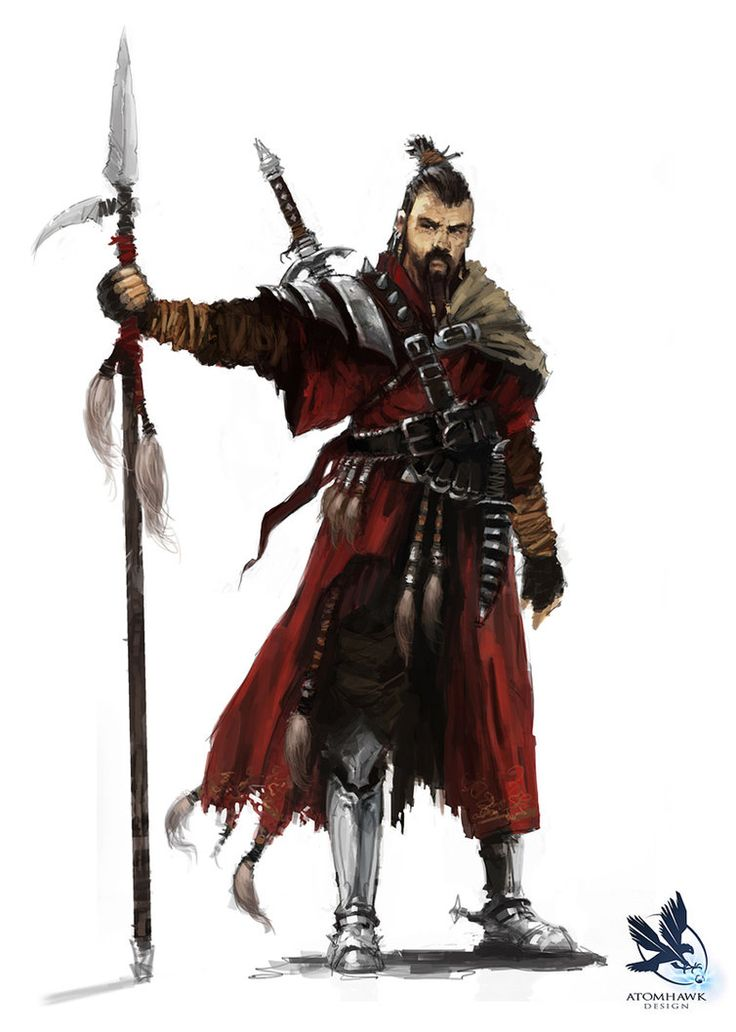 Pathfinder RPG Art   Mongol by atomhawk on deviantART