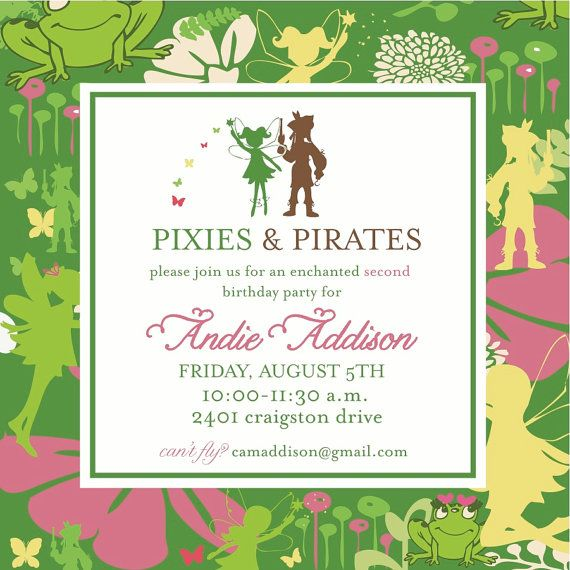 tinkerbell party: Girls Party, Cute Idea, Tinkerbell Party, Showers Idea, Party Idea, Pirates Invitation, Pirates Party, Pixie, Birthday Party