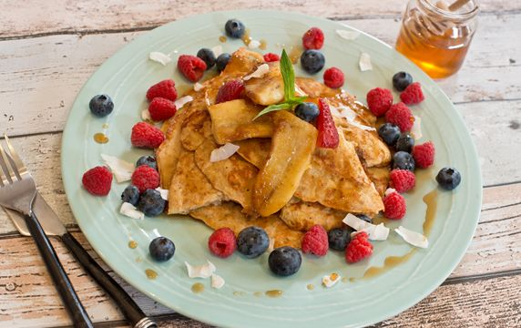 American Style Weet-Bix Pancakes For a nutritious take on classic American Style Pancakes, try this easy recipe using Weet-Bix as a base topped with caramalised banana! They're sure to be a family favourite in no time.