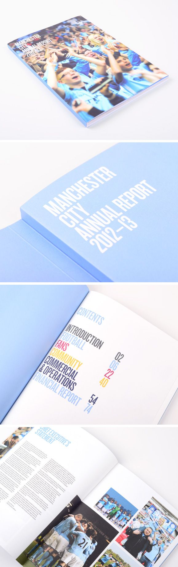 MCFC Annual Report by Music. Printed by Team.