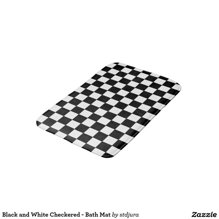 Black and White Checkered - Bath Mat Bath Mats