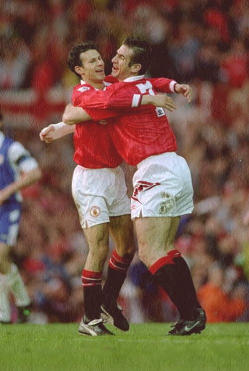 Ryan Giggs and Eric Cantona, Manchester United FC.