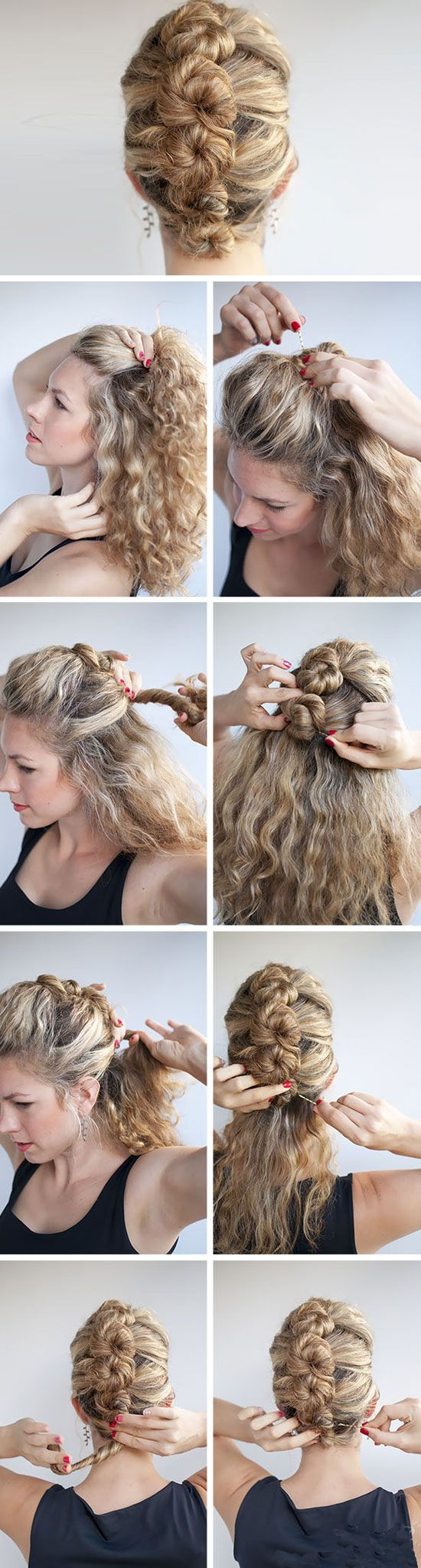 The French Roll Twist and Pin   Click Pic for 12 DIY Wedding Hairstyles for Medium Hair   Easy Hairstyles for Long Hair