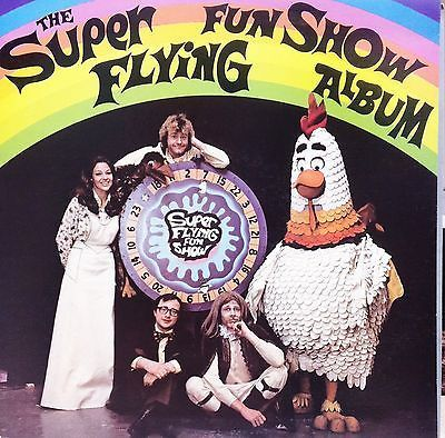 THE SUPER FLYING FUN SHOW ALBUM LP Gatefold Smokey Dawson Humphrey B Bear