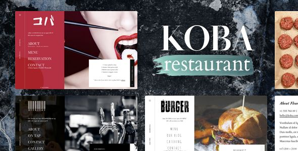 KOBA  - A Delicious Restaurant WordPress Theme. Full view & Download here: https://themeforest.net/item/koba-a-delicious-restaurant-wordpress-theme/16594503?ref=thanhdesign