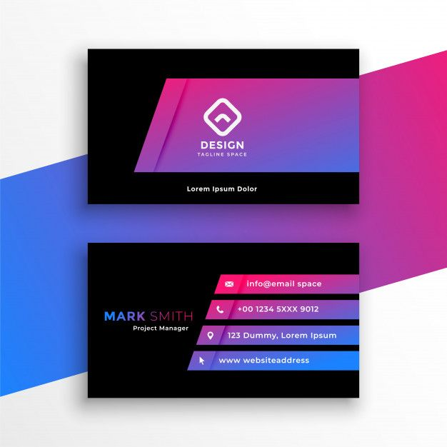 Download Stylish Vibrant Purple Business Card Template Design For Free Business Card Template Design Business Card Template Card Template