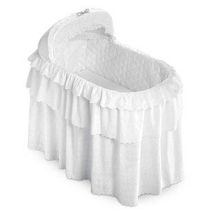 White Eyelet Three Tier Bedding Only Set For Jumbo