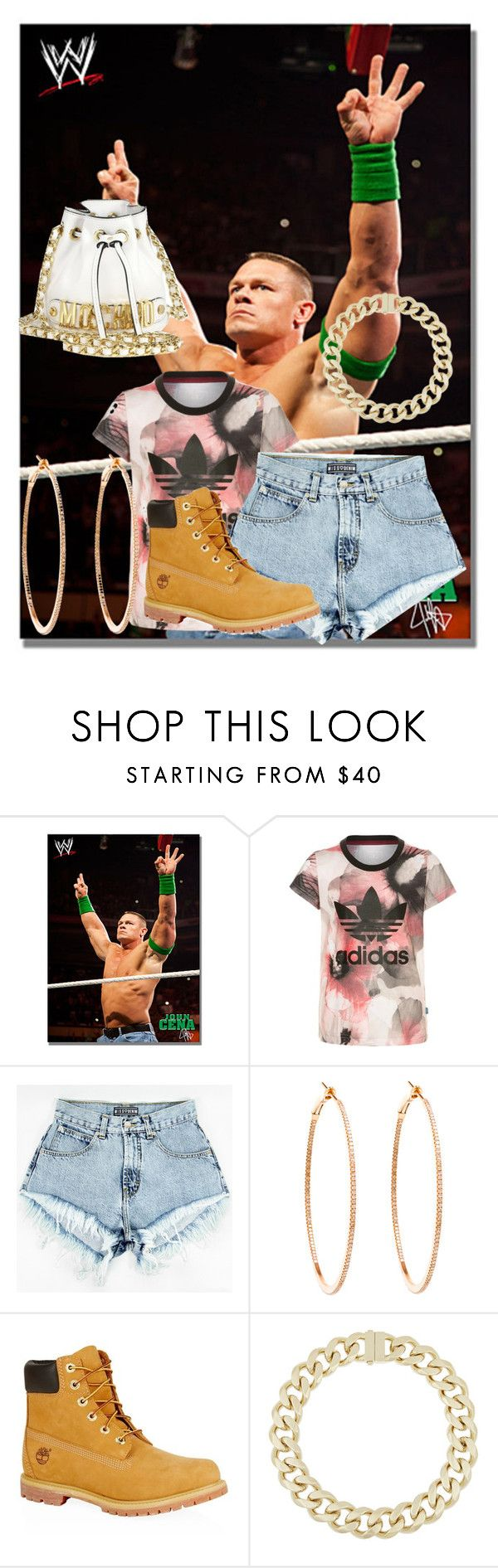"""john cena"" by zaralover242 ❤ liked on Polyvore featuring beauty, adidas Originals, Rosa de la Cruz, Timberland, Givenchy and Moschino"