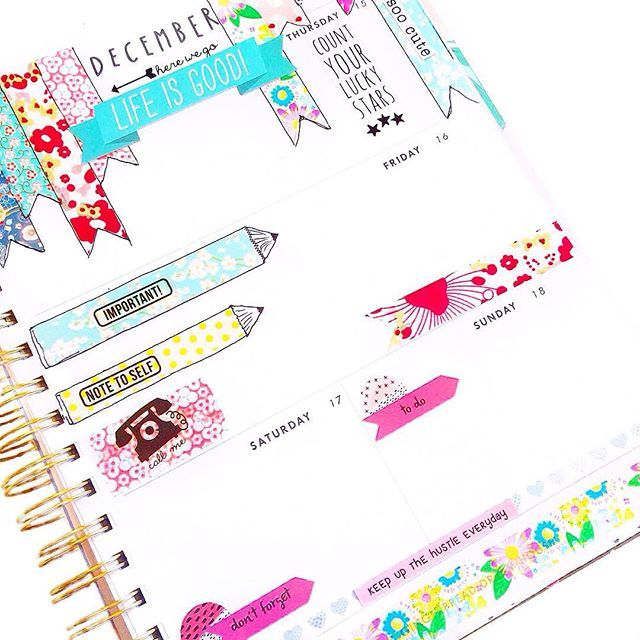 I was using my @shopbando planner for memory keeping, but I've decided to use it for my business planner as my TN was too small. I loved using all these gorgeous @washigang washi tapes this week. Happy #washiwednesday
