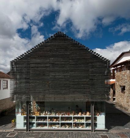 Casa da Mestra (fachada em xisto) em gimonde