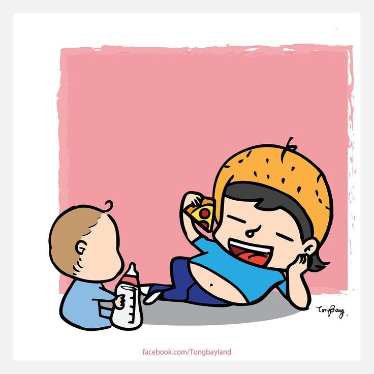 Babysitter 2.0 . Follow @tongbay for more! . #tummyofbay #tummy #babysitter #babysitting #pizza # #baby #doingmyjob #cartoon #illustration #illustrate #draw #drawing #artist #插画 #插圖 #澳門插畫 #澳門原創