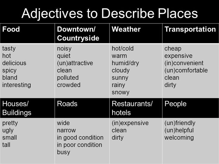 11 Best Adjectives For Places Images On Pinterest Nature Beautiful Places And Creative Writing