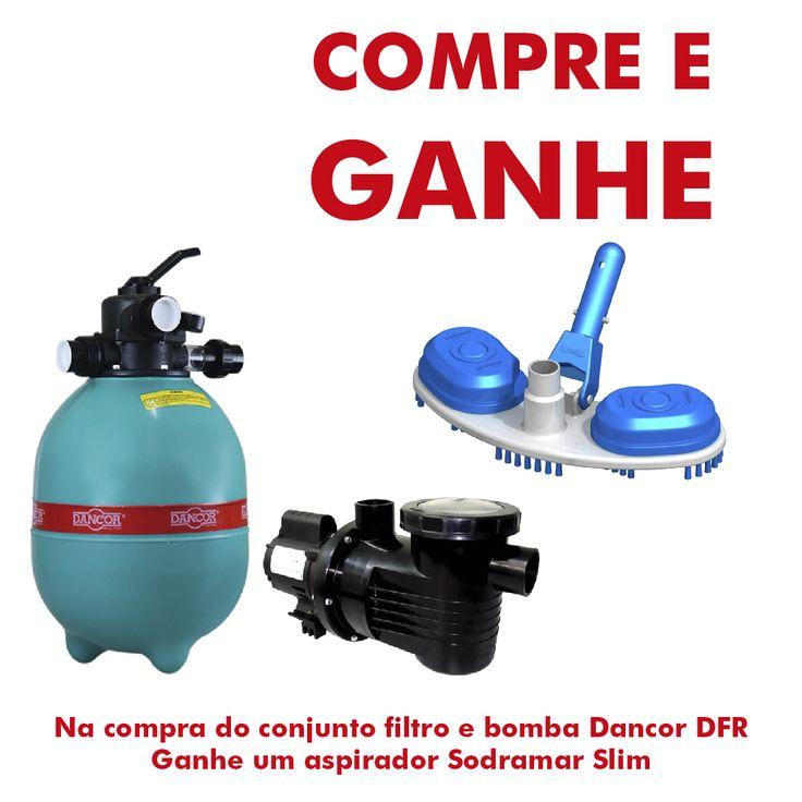 Conjunto Dancor Filtro e Bomba para Piscina até 30.400 Litros DFR-12-4 - bombashopping