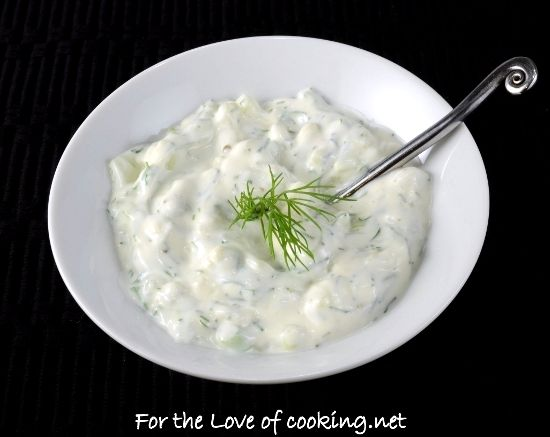 Creamy Cucumber Dill Sauce via for the love of cooking
