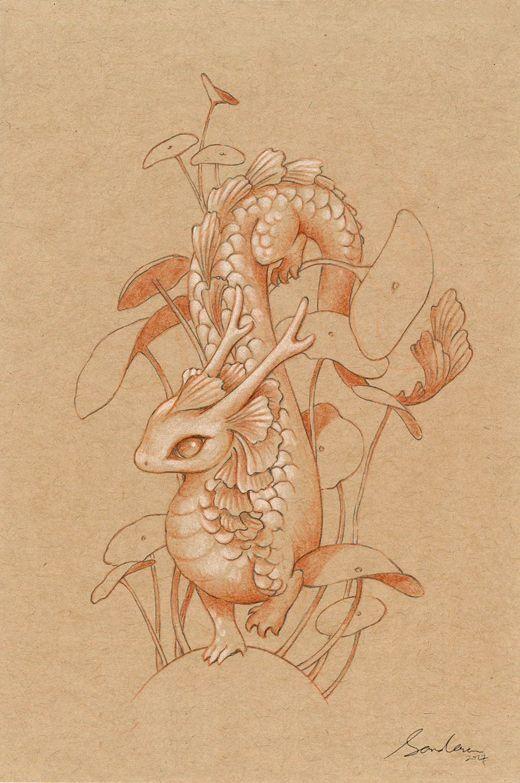 Paper Dragon 2 by sandara.deviantart.com on @DeviantArt
