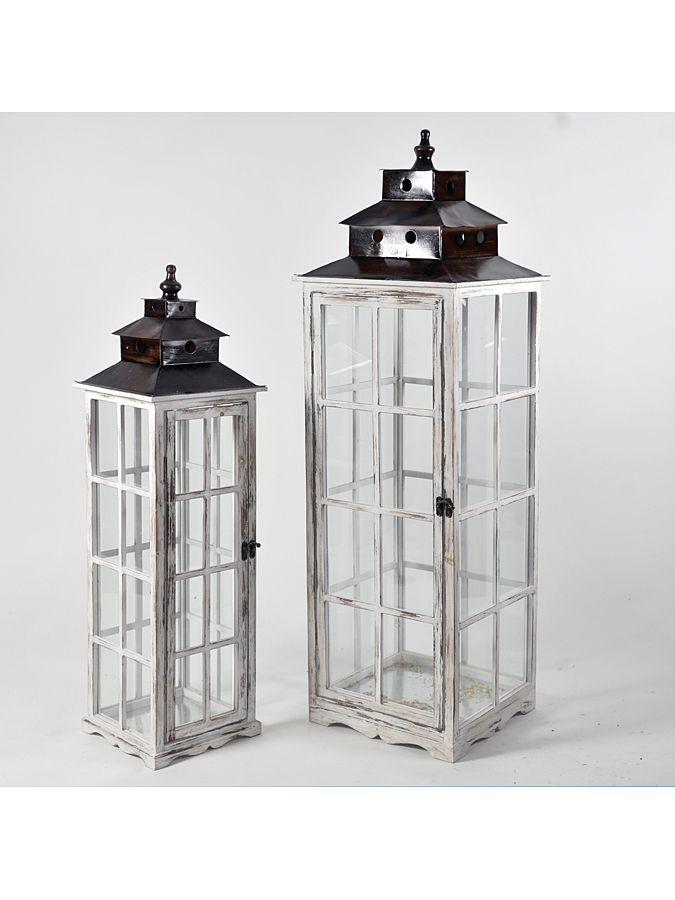 Biało-srebrne lampiony- idealna dekoracja do domu albo ogrodu. 266 PLN (2 szt.) #limango #dekoracje #akcesoria #dom #mieszkanie #inspiracje #ogród