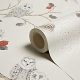 Arthouse Night Owl Copper & Cream Birds Glitter Wallpaper | Departments | DIY at B&Q