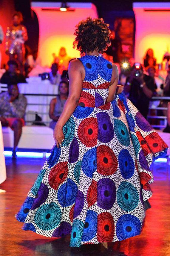 The PodotQuistt Elegant Dress African Print Long Dress by Quistt