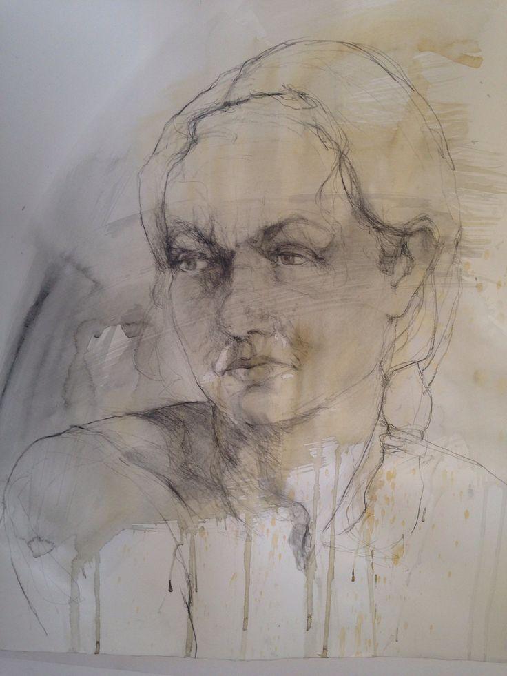 Gouache and charcoal. Linda Rademan