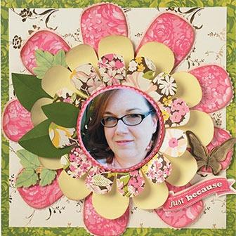 flower powerScrapbook Ideas, Scrapbook Pages Lov, Annagriffin Com, Scrapbooking Cards, Griffin Scrapbook, Scrapbooking Cardmaking, Anna Griffin, Scrapbook Layout, Flower Children