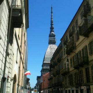 La Mole Antonelliana vista da Via Po.