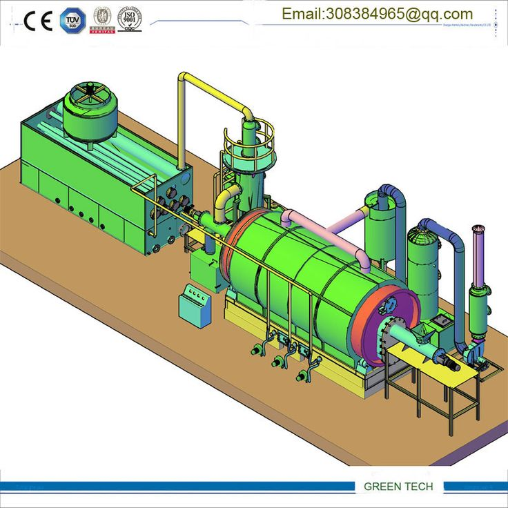 Waste tyre recycling machine pyrolysis line 15 tpd with auto discharge system