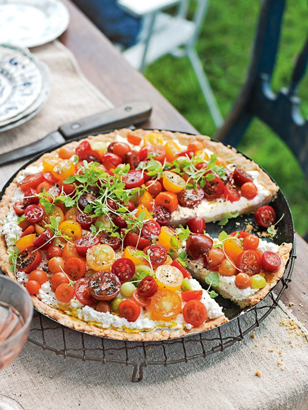 ricotta and heirloom tomato tart from donna hay magazine issue #84 Celebrate