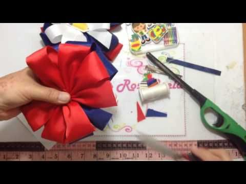 Como Hacer FLORES EN LISTON Paso a Paso HOW TO MAKE RIBBON FLOWERS Tutorial DIY Step by Step PAP - YouTube