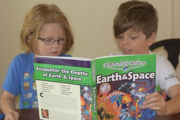 Kids reading Christian Kids Explore Earth and Space