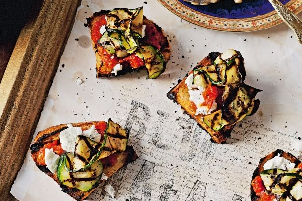 This is a great alternative to traditional bruschetta and makes a lovely starter.