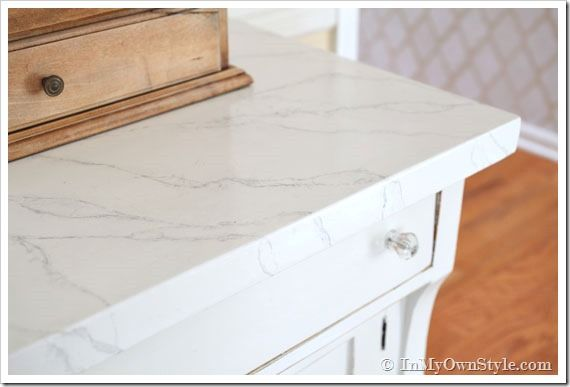 Faux Carrara Marble Painting Technique Fo Makeover