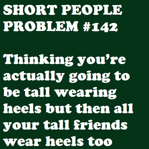 Haha, why do tall girls wear high heels?