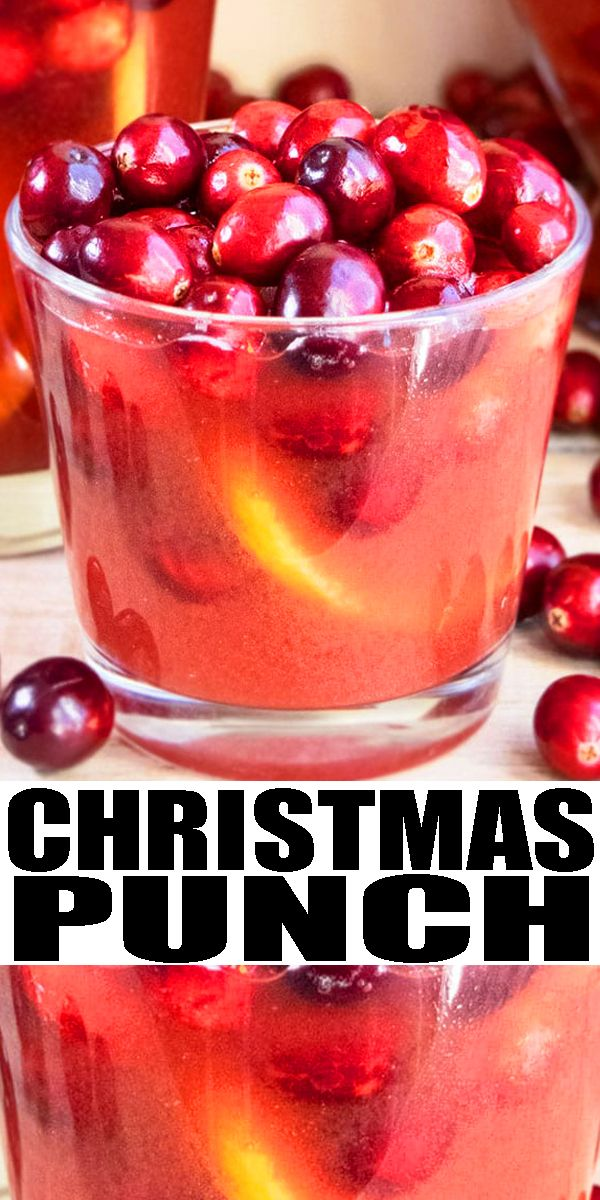 Easy Christmas Punch (Non Alcoholic) in 2020 | Holiday punch