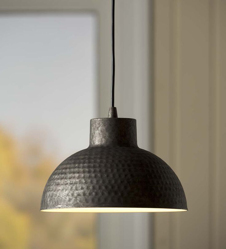 Hammered Galvanized Dome Pendant Light | Just remove the old light bulb,  screw in the - Best 25+ Screw In Pendant Light Ideas On Pinterest Recessed